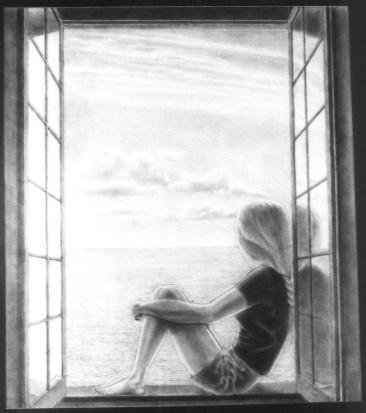 دختری در پنجره