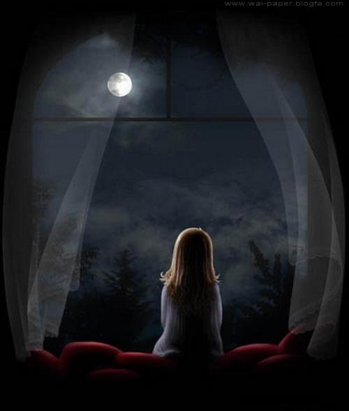 شب در کنار پنجره